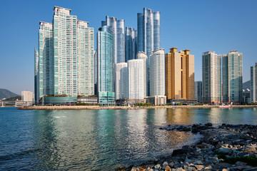 Marine city skyscrapers in Busan, South Korea