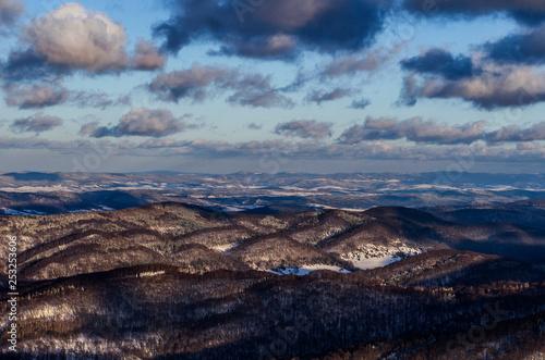 Bieszczady panorama zimą