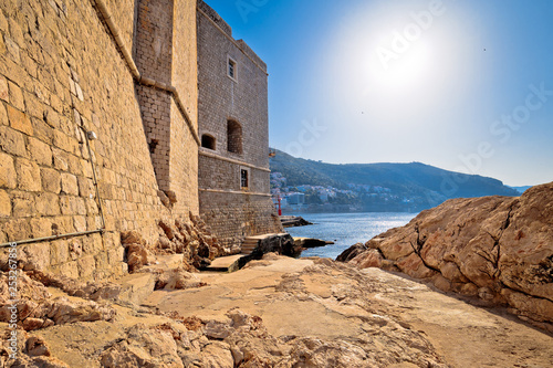 canvas print picture Under the Dubrovnik city walls view