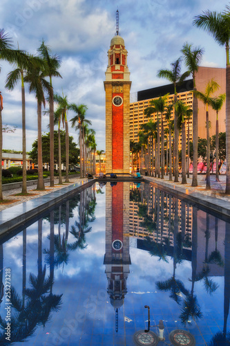 obraz PCV HK Clock tower pool vert