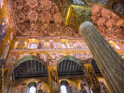 Palace of the Normans, Palazzo Reale or Palazzo dei Normanni, appartamenti reali, Royal Residence,Palatine Chapel, Cappella Palatina, Palermo, Italy  - 253295243