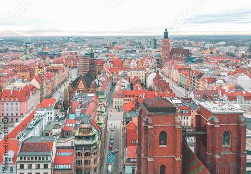 fototapeta na ścianę Wroclaw from above