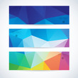 Vector banners set abstract triangle background