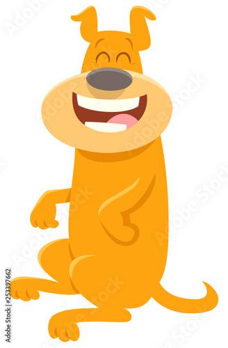 happy dog cartoon animal character - 253397662