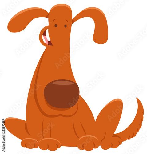funny brown dog cartoon animal character - 253397689