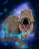 t-rex in white background