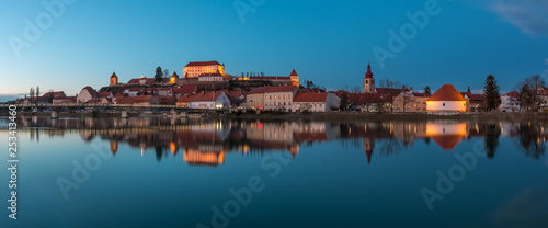 Cityscape of the Slovenia's oldest city Ptuj after the sunset - 253413460
