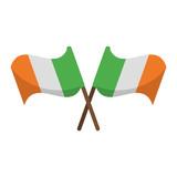 Ireland flags crossed symbol