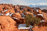 Rock formations in Arches National Park;  Utah