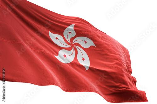 obraz PCV Hong Kong flag waving isolated white background 3D illustration