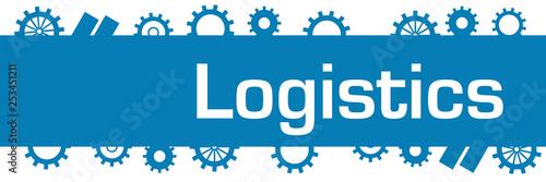 Logistics Blue Gears Top Bottom Horizontal