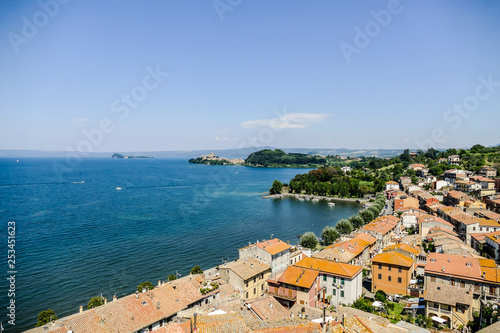 view of the city of croatia, digital photo picture as a background - 253451623