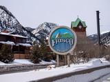 Frisco Colorado Welcome Sign Winter Day