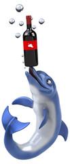 Fun dolphin - 3D Illustration © Julien Tromeur
