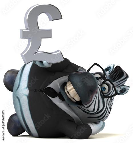 Fun zebra - 3D Illustration - 253463895