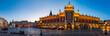 Leinwandbild Motiv Krakow Cloth Hall by early blue hour (panoramic)