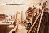 Fototapeta Las - Leere Werkstatt in einer Schreinerei © Robert Kneschke