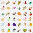 Different beverage icons set. Isometric style of 36 different beverage vector icons for web for any design - 253490878