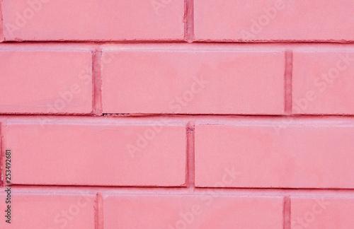 pink brick wall - 253492681