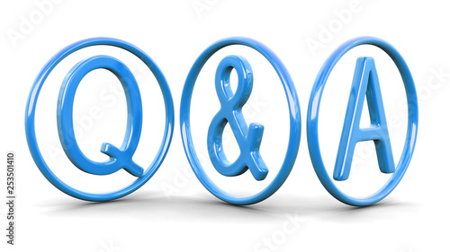 Questions and answers. Image with clipping path