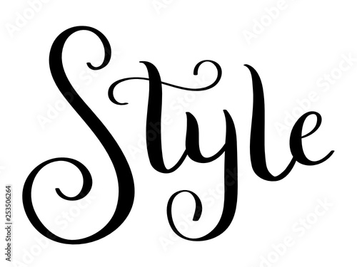 STYLE hand lettering banner