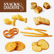 Crackers And Snacks Transparent Set