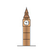 Big ben icon. isolated on white background