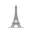 Eiffel tower icon. isolated on white background