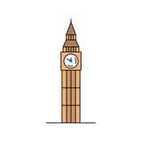 Fototapeta Big Ben - Big ben icon. isolated on white background © Nataliia