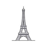 Fototapeta Wieża Eiffla - Eiffel tower icon. isolated on white background © Nataliia