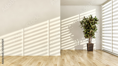 large luxury modern bright interiors room illustration 3D rendering © 3DarcaStudio