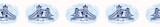 Sketchy London Tower Bridge seamless vector border pattern. Famous historical british monument ribbon trim. Travel vacation. Iconic british uk sightseeing symbol. Blue white drawbridge river thames.