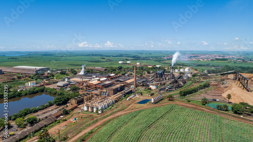 Sugarcane plant producing renewable energy. Ethanol. - 253553295