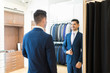 Client Showing Contentment About New Suit