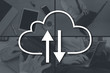 Leinwandbild Motiv Concept of cloud storage