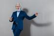 canvas print picture - Freudiger Senior Business Mann