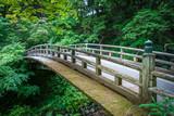 Traditional japanese wooden bridge in Nikko, Japan