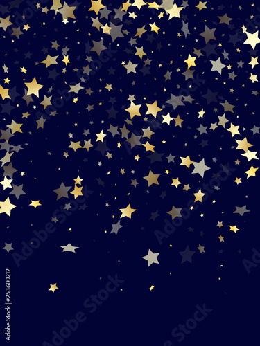 Gold gradient star dust sparkle vector background. © sunward5