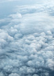Fluffy clouds. Aerial view. - 253605687