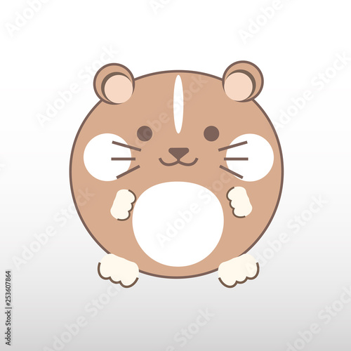 vector image of cartoon hamster on white background