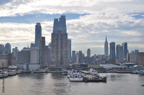 obraz PCV A View of New York City from Hudson River, USA