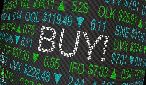 Buy Order Stock Market Ticker 3d Illustration