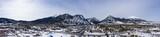 Frisco Colorado Winter Snow Panoramic Aerial View of City