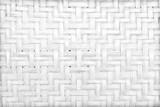 handmade white bamboo or wicker weave texture background