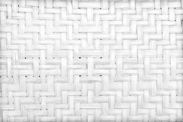 handmade white bamboo or wicker weave texture background © modify260