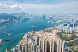 Fototapeta Miasto - Residential area in Hong Kong © Gorma K
