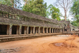 Gallery at fourth enclosure wall of Ta Prohm temple, Cambodia