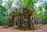 Ruins of the House of Fire at Ta Prohm temple, Cambodia