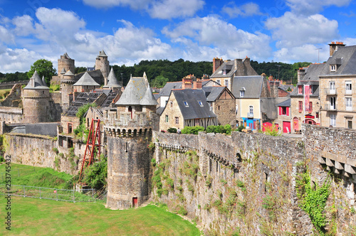 Castle of Fougeres in Brittany north of France.