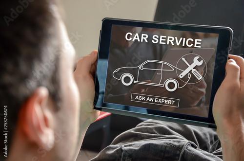 Concept of car service - 253750674